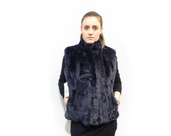 Real fur vest,Real Rex Rabbit Fur Vest F420