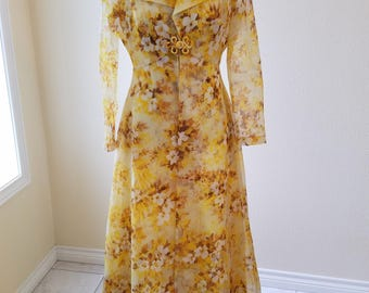 Vintage Maxi Dress with Duster, vintage dresses, vintage clothing, vintage maxi dress, mother of the bride dress, size 12 full length dress