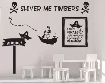 High Quality Pirate Wall Decals   Pirate Decals   Skull And Crossbones   Kids Room Decals    Wall Part 12