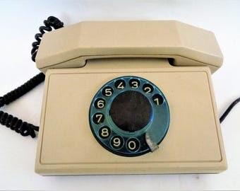 Vintage Telephone, Vintage Rotary Telephone, Vintage Rotary Phone, Rotary Deal Phone, Classic Desk Phone, Rotary Telephone, 1992