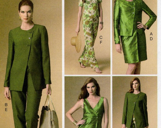 FREE US SHIP Vogue 9094 Sewing Pattern Separates Wardrobe Dress Jacket Top Pants Size 16 18 20 22 24 Bust 38 40 42 44 46 Last size left