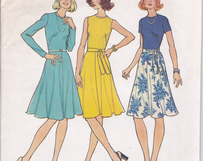 FREE US SHIP Simplicity 6884 Vintage Retro 1970's 70's Sewing Pattern Size 10 Bust 32 Uncut Dress Sleeve Variations ff