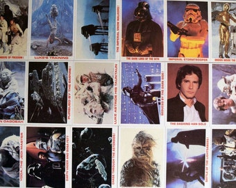 1980 Star Wars Burger King Trading Cards - Complete Set of 36 - Not Perforated & in Outstanding Shape!