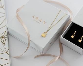 padlock necklace - love necklace - little padlock  necklace - silver padlock  necklace - Delicate Necklace - minimal jewelry