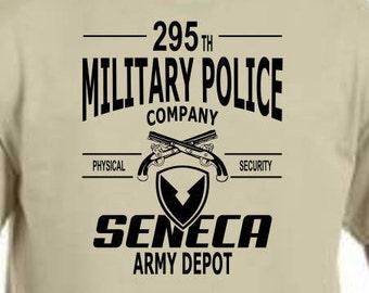 Seneca Army Depot 295 th Military Police Company T shirts