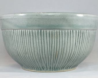 Bowl with Texture Stoneware Bowl Carved Bowl Pasta Bowl Side Bowl