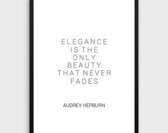 Audrey Hepburn Wall Art | Fashion wall Art Audrey Hepburn Quotes Fashion Decor Girls Room Decor Printable Quotes Women Gift Fashion Art