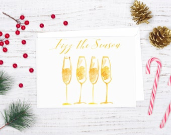 Fizz the Season Card, Printable Holiday Cards, Adult Christmas Card, Funny Christmas Card, Christmas Teacher Gift, Download Christmas Card