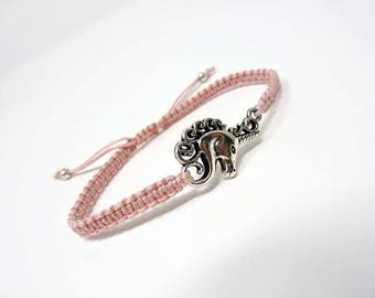 Unicorn Bracelet / Macrame Bracelet / Friendship Bracelet / Knotted Bracelet / Gift / Macrame Stacking Bracelet / Colourful Bracelet