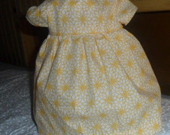 Yellow 18 in. Doll Dress