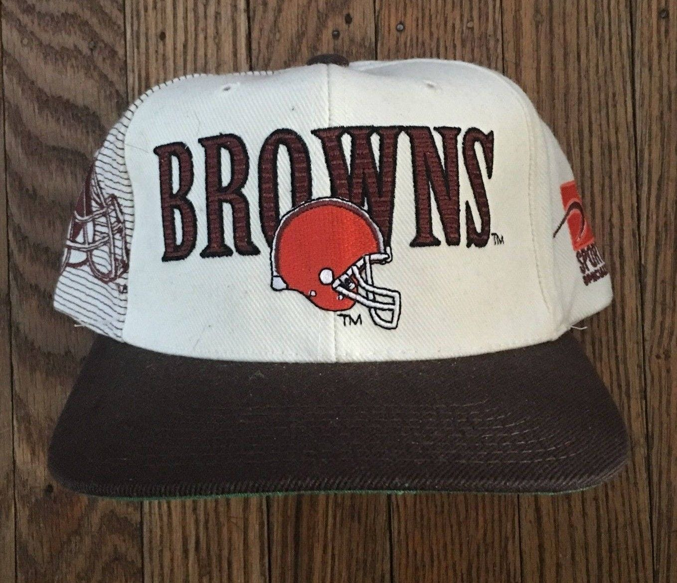 0d6094bd477 Vintage Cleveland Browns Sports Specialties NFL Snapback Hat Baseball Cap
