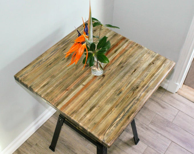 """Counter Height Reclaimed Wood Table - 24"""" SQUARE"""