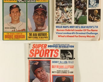 All-Star Sports 1968, Complete Sports 1969, Super Sports 1969 Vintage Baseball Football Basketball Magazines