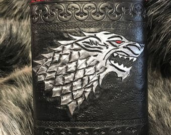 House of Stark Game of Thrones Leather Flask