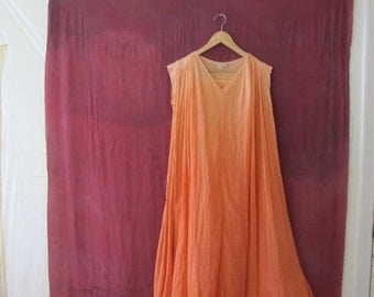 Ombré Sheer Cotton Dress