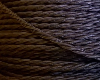 Vintage Style Twisted Braided Cable - Brown