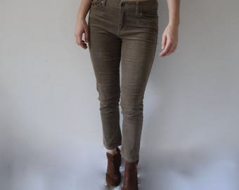 Vintage 90s CORDUROY High-Waisted Pants Jeans