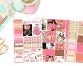 Pumpkin Mini Kit, planner stickers