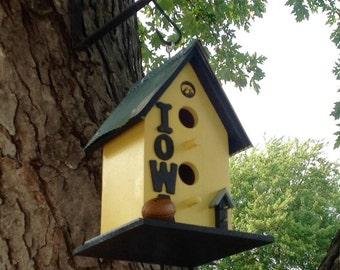 Yellow/Iowa Hawkeyes/Birdhouse/Metal Roof