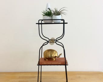 Metal Plant Stand-Petite Mid Century Shelf