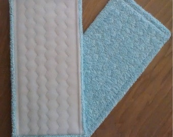 """Shammy inside! Cotton terry reusable, washable, durable pads for Swiffer WetJet, Libman Spray Mops. 11.5"""" x 5.5"""" and CUSTOM SIZES"""