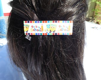 Back-to-School Sale! ABC Book Hair Barrette Teacher Student