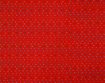 "Apparel Fabric, Flag Print, Red Fabric, Craft Fabric, Dress Material, Home Decor, Cotton Fabric, 58"" Inch Fabric By The Yard ZBC8685B"