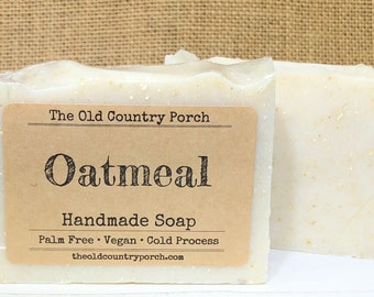 Oatmeal Soap, Unscented Natural Soap, All Natural Soap, Handmade Soap, Vegan Soap, Palm Free Soap