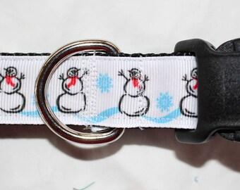 "1"" Snowman Dog Collar - Side Release Buckle"
