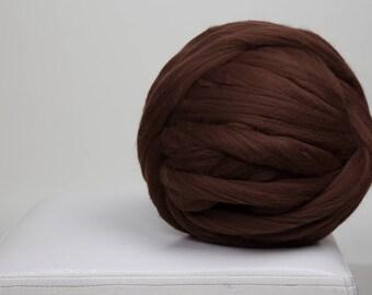 1 lbs/0.5 kg Merino wool roving - Super bulky yarn - Merino wool - Wool yarn - Giant yarn - Merino wool yarn - Chunky yarn - Giant wool