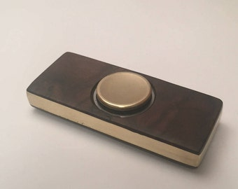 Fidget Spinner in Brass and Walnut Burl
