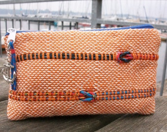handwoven pencil case small maritime, nautical pins, anchor nodes rope rope cord, sea ocean, sailing surfing climbing