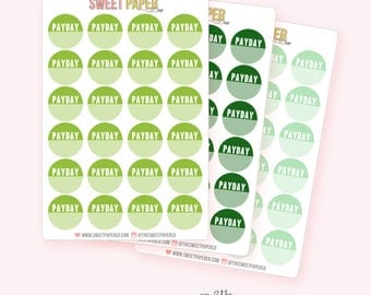 Payday Circle Planner Stickers
