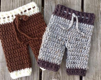 Crochet Newborn Pants