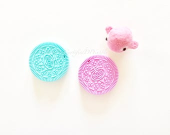 Silicone Teething Cookie/ Certified/ Silicone Teething Toy/ Baby Safe/ Teething/ Cookie/ DIY/ Teether/ Silicone Toy/ Oreo/ Pink/ Mint/ Boy