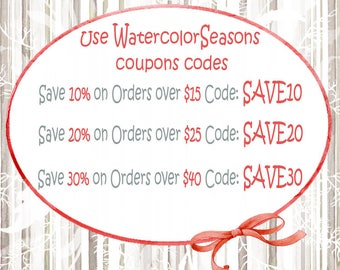 WatercolorSeasons COUPON CODE