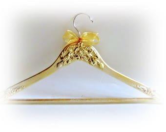 Gold Dress Hanger Bridal Hanger Gold Hanger Bridesmaid Gift Wedding Name Hanger Clothing Hanger Bride Hanger Brida; Shower Gift