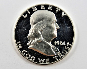 U.S. 1961  Franklin Half Dollar.