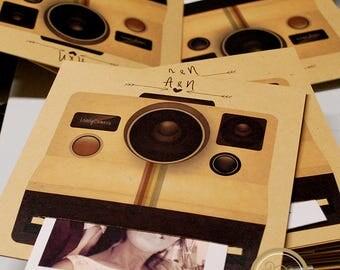 Participation invitation polaroid/wedding room
