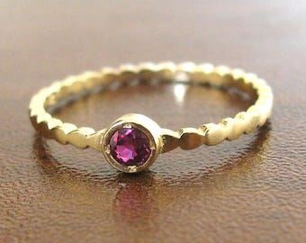 Engagement Ring Ruby Yellow 14k Solid Gold, Ruby Engagement, Ruby Wedding Ring, Gemstone Ring, Unique Engagement Ring, Ruby Solitaire Ring