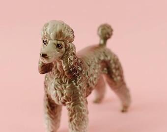 Shafford Japan Gray Vintage Ceramic Poodle | Poodle Figurine Circa 1960's | Standard Poodle