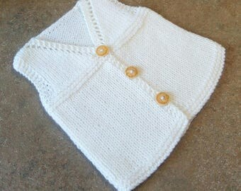 Handmade knitted Baby waistcoast size 3-6 months ready to ship!