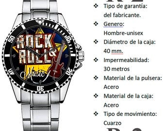 Personalized ROCK and ROLL watch