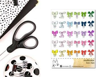 Multicolor - BOW PAPER CLIP