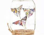 Pot Mason décoratif x Origami   Papillons   Décoration de table originale et élégante.