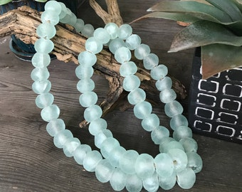 Large Seaglass African Recycled Glass Beads