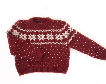Christmas baby sweater, norwegian baby sweater, handmade nordic baby sweater, wool baby sweater, icelandic jumper, Nordic sweater