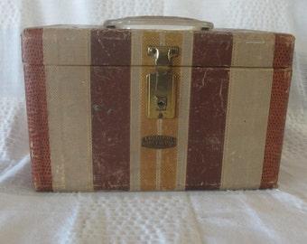 Vintage Neevel Gadabout Train Case Vintage Makeup Case