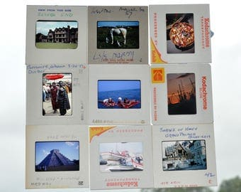 Vintage photographic slides from the 1950s-1980s Travel, people, animals, architecture