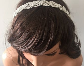 Bridal Head Band, Wedding headband, Rhinestone and Pearl headband, Bridal Headband, Bridal Hair Accessory, Wedding hair Accessory